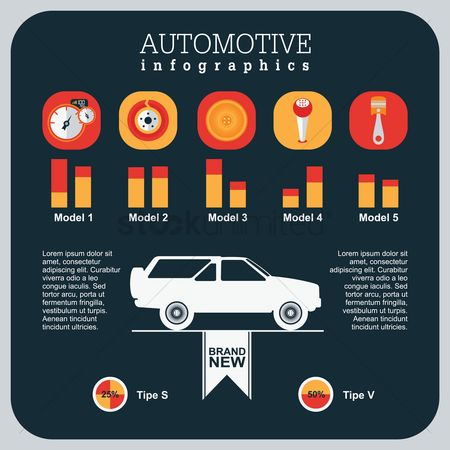 Car speedometer : Automotive infographics