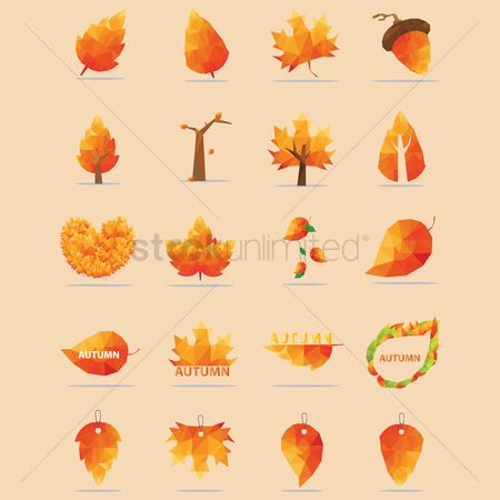 Faceted : Autumn icons