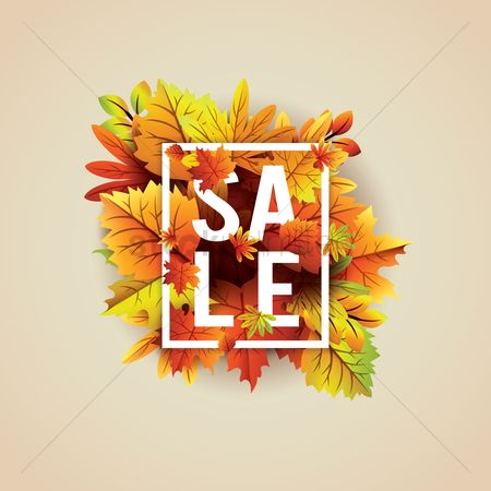 Season : Autumn themed sale label