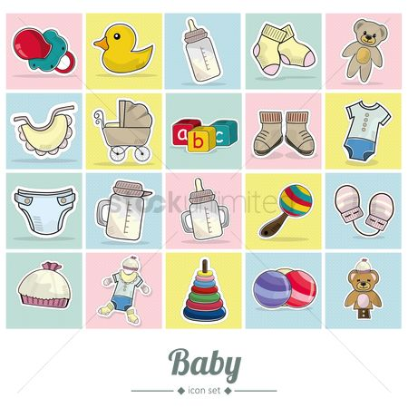 Sock : Baby icons set