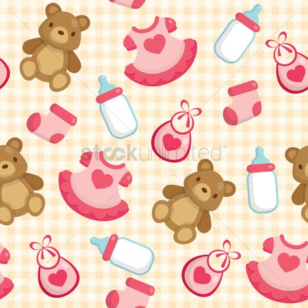 Sock : Baby seamless background