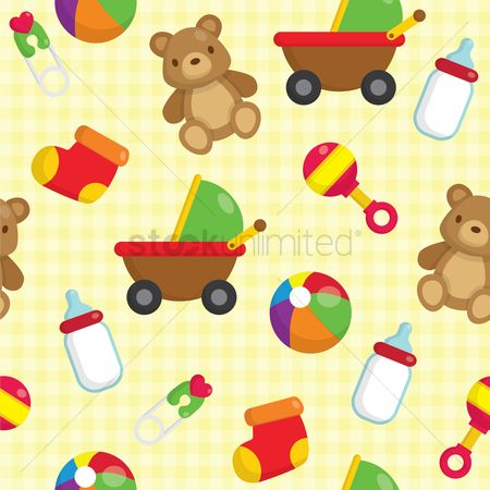 Kids : Baby seamless background