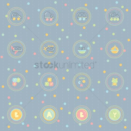 Teddybear : Baby theme background