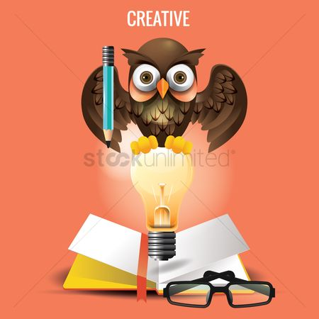 Owl : Back to school design