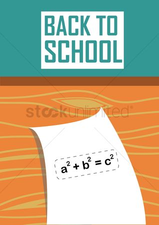 Formulas : Back to school poster