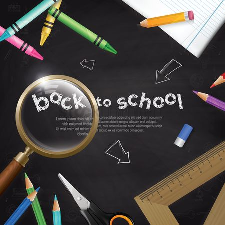 Stationary : Back to school template