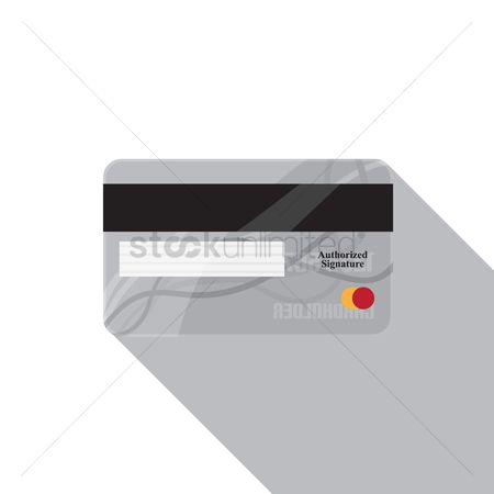 Backview : Back view of a credit card