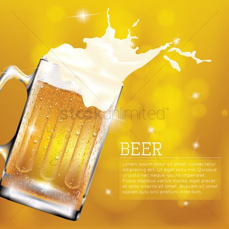 Alcohols : Background with beer