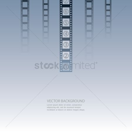 Multimedias : Background with film reel