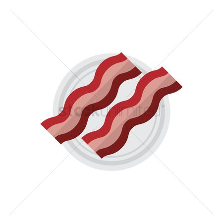 Crispy : Bacon strips on a plate