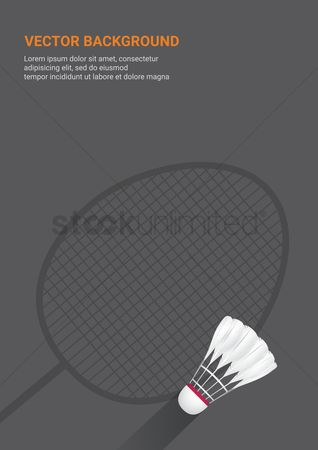 Indoor : Badminton vector background