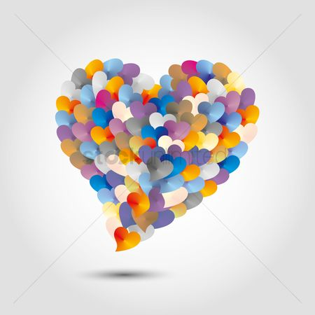 Heart shape : Balloons in heart shape