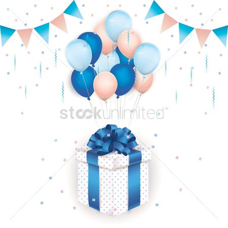 Reward : Balloons tied to a gift