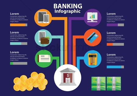 Currencies : Banking infographic