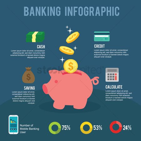 Calculator : Banking infographic