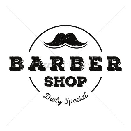 Moustache : Barber label