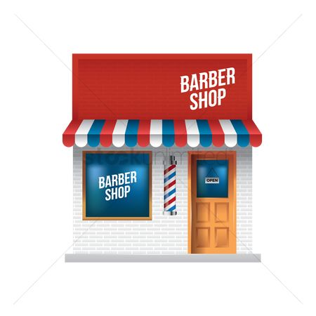 Awning : Barber shop exterior