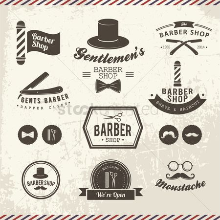 Shops : Barbershop icons