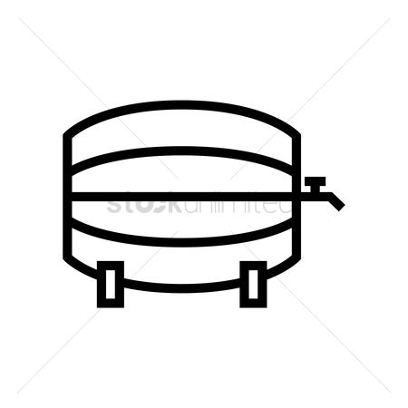 Wine barrel : Barrel with tap