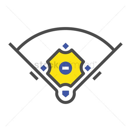 Pitcher : Baseball field dimensions
