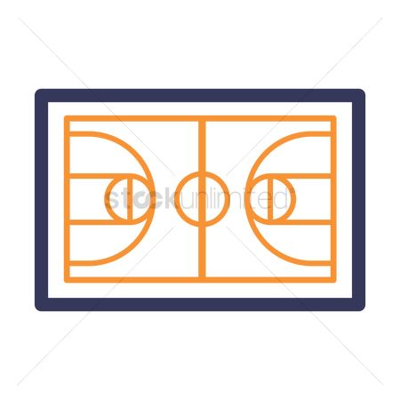 Wooden sign : Basketball court icon