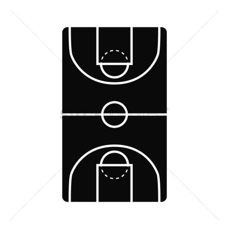 Wooden sign : Basketball court