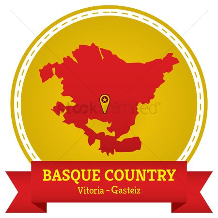Capital city : Basque country map