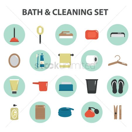 Slippers : Bath and cleaning set