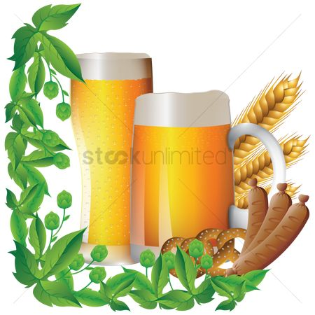 Beer mug : Bavarian food