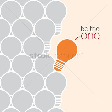 Bulb : Be the one concept
