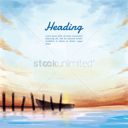 Seashore : Beach background
