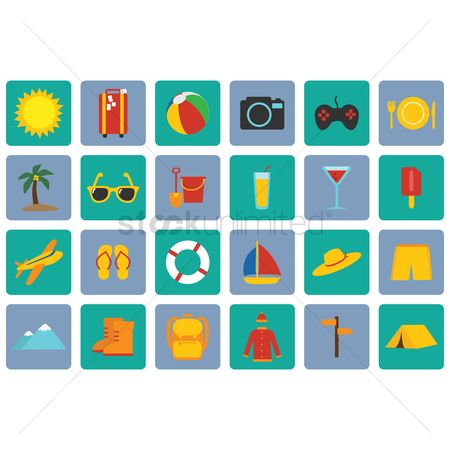 Recreation : Beach icons