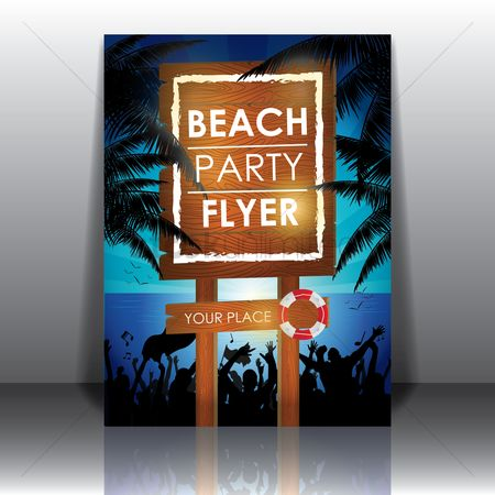 Signages : Beach party flyer