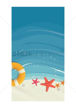 Starfishes : Beach wallpaper for mobile phone