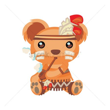 Smoking pipe : Bear character