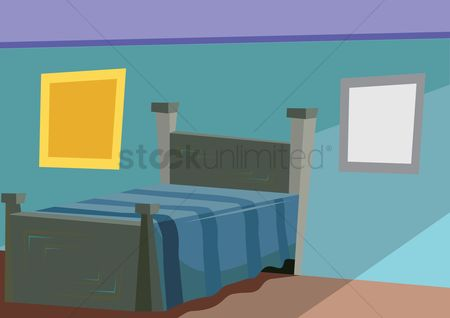 Interior background : Bedroom interior