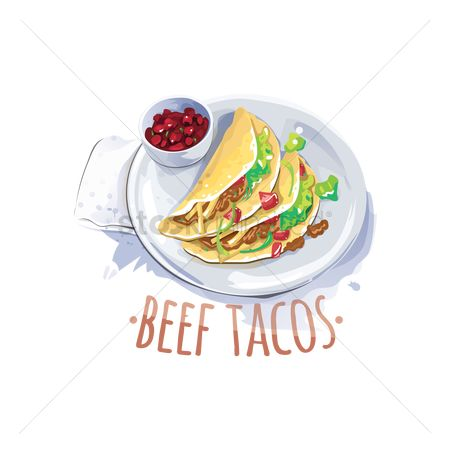 Mexicans : Beef tacos