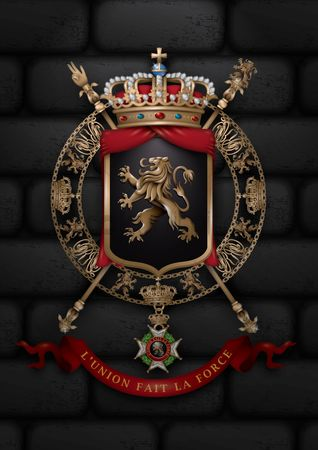 Brick : Belgium coat of arms