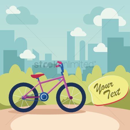 Lifestyle : Bicycle with city view
