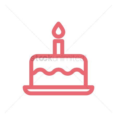 Free Birthday Cake Icon Stock Vectors Stockunlimited