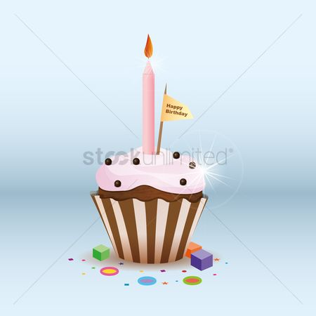 Sparkle : Birthday cupcake