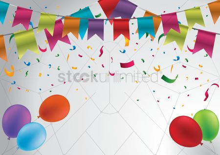 Party : Birthday decoration with copy space