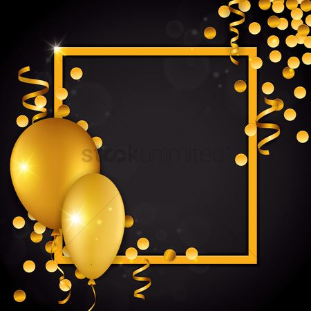 Falling : Birthday decoration with gold concept