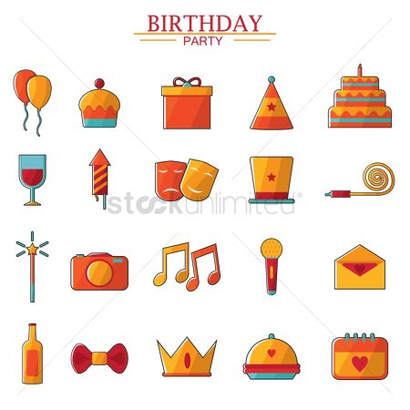 Photography : Birthday icon collection
