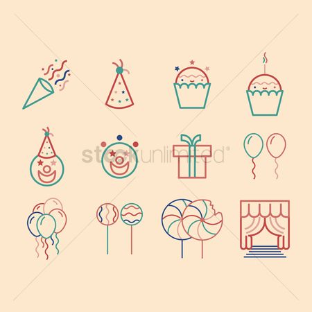 Confectionery : Birthday icons