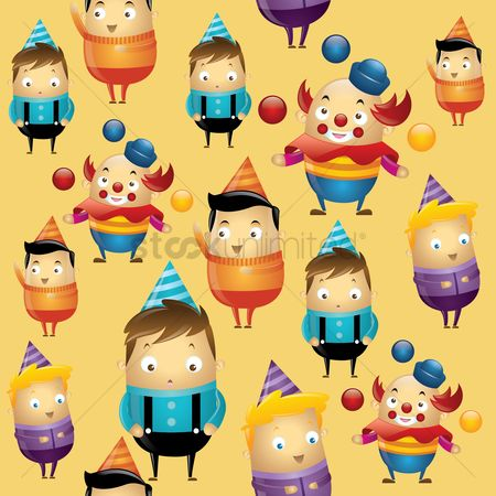 Clowns : Birthday party background