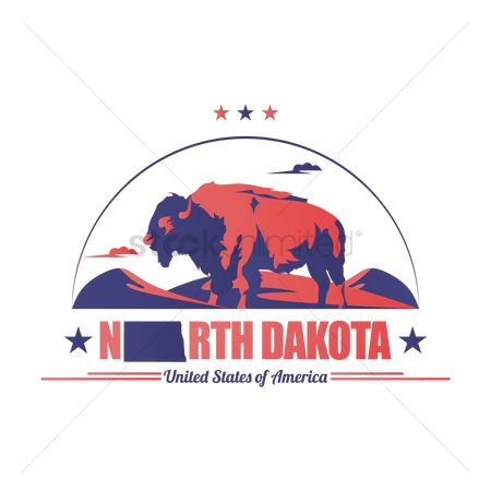 Dakota : Bisons of north dakota state