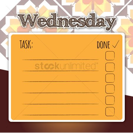 Planner : Blank daily checklist template