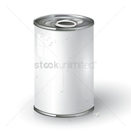 Container : Blank tin can