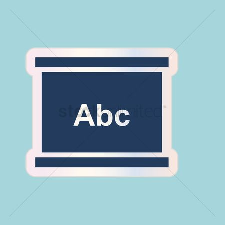 Whiteboard : Board with abc